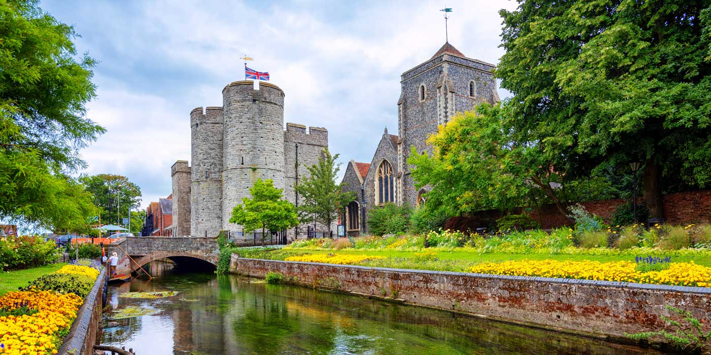 Westgate-towers-and-Guildhall-in-Canterbury-EnglandUK