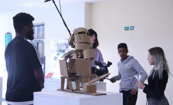 Gulbenkian filming at art exhibtion
