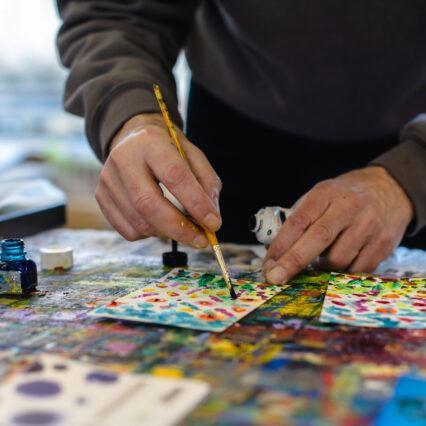 Artist hands close up - Creative Land Trust